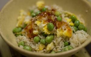 fried rice warm